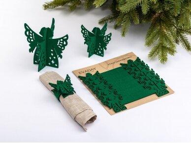 """Kalėdiniai stalo papuošimai """"Angelas"""", žalia 2"""