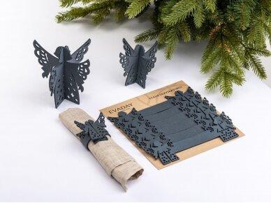 """Kalėdiniai stalo papuošimai """"Angelas"""", pilka 2"""