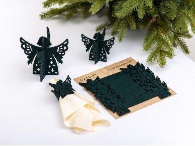 """Kalėdiniai stalo papuošimai """"Angelas"""", tamsiai žalia 2"""