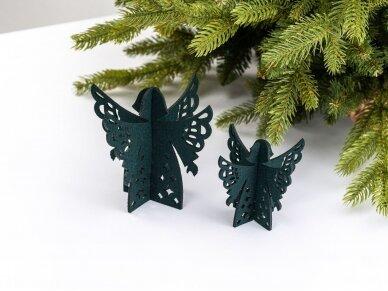 """Kalėdiniai stalo papuošimai """"Angelas"""", tamsiai žalia"""