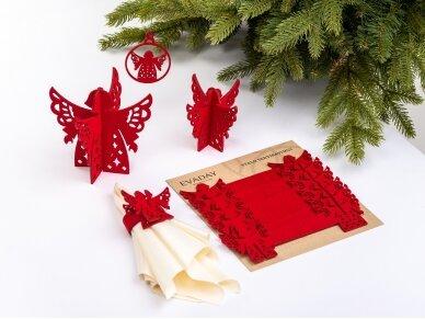 """Kalėdiniai stalo papuošimai """"Angelas"""", raudona 3"""