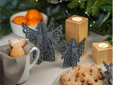 """Kalėdiniai stalo papuošimai """"Angelas"""", tamsiai žalia 5"""