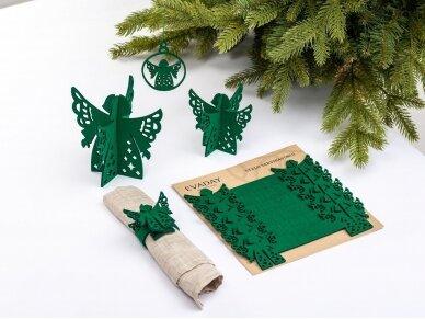 """Kalėdiniai stalo papuošimai """"Angelas"""", žalia 3"""
