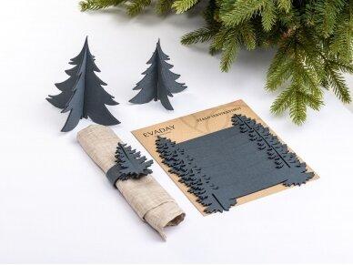 """Kalėdiniai stalo papuošimai """"Eglutė"""", pilka 2"""