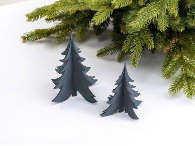 """Kalėdiniai stalo papuošimai """"Eglutė"""", pilka"""