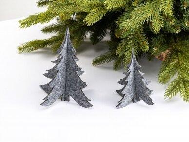 """Kalėdiniai stalo papuošimai """"Eglutė"""", šviesiai pilka"""