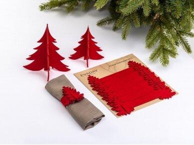 """Kalėdiniai stalo papuošimai """"Eglutė"""", raudona 2"""