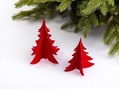 """Kalėdiniai stalo papuošimai """"Eglutė"""", raudona"""