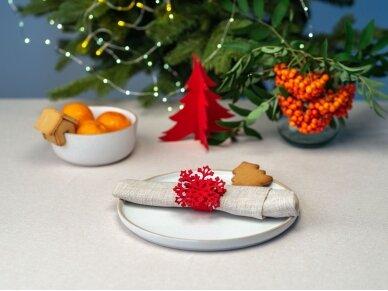 """Kalėdiniai stalo papuošimai """"Eglutė"""", raudona 4"""
