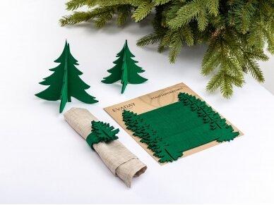 """Kalėdiniai stalo papuošimai """"Eglutė"""", žalia 2"""