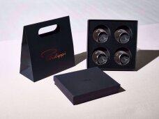 """Žiedai servetėlėms dėžutėje """"SWIRL"""", 4 vnt."""