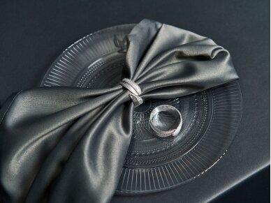 """Žiedas servetėlei sidabrinis """"Leaves"""" 2"""