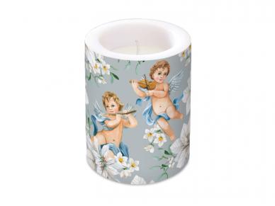 """Žvakė cilindrinė šviečianti tamsoje """"Angels in flowers"""""""