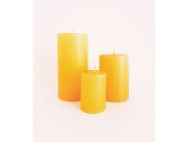 Žvakė geltona cilindro formos 3